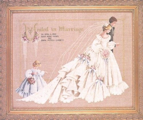 Oooh The Wedding Lavender And Lace Cross Stitch Chart Cross
