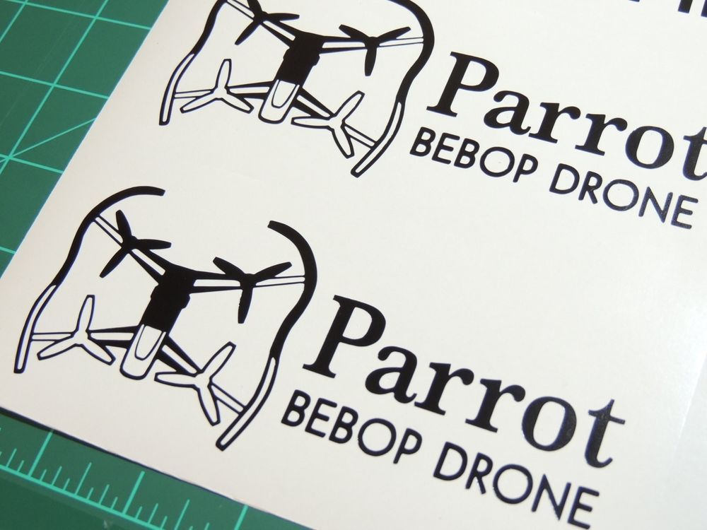 Parrot bebop drone decal sticker uav car window die cut vinyl quadcopter rc