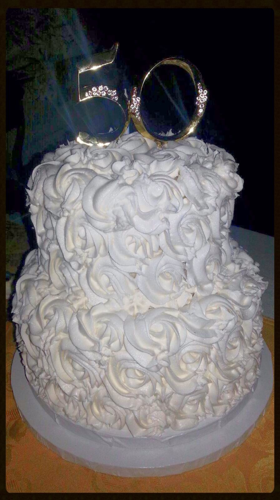 50th Wedding Anniversary Cake CAKE MASTERPIECES Pinterest