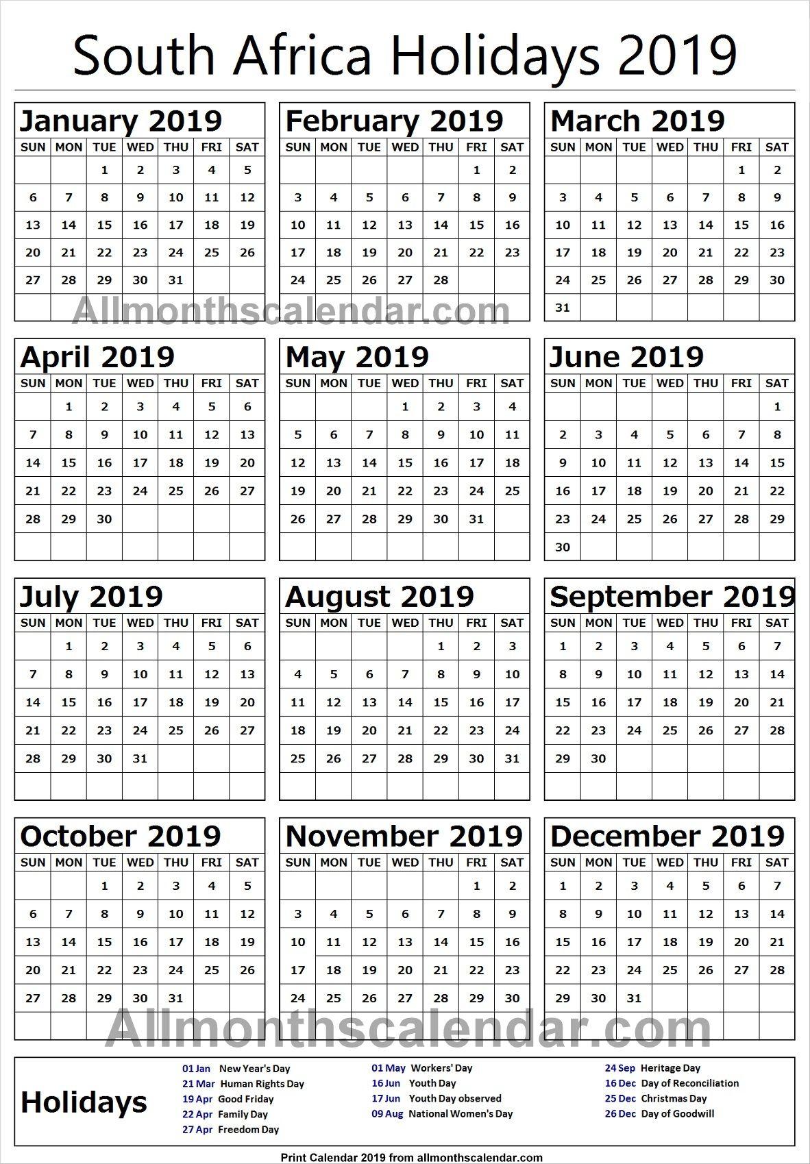 South Africa Holiday List 2019 South Africa Holidays Marketing Calendar Template Ramadan In Saudi Arabia