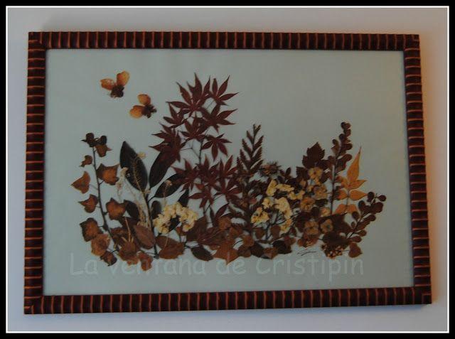 La ventana de Cristipin CUADROS DE FLORES SECAS cuadros hojas - flores secas