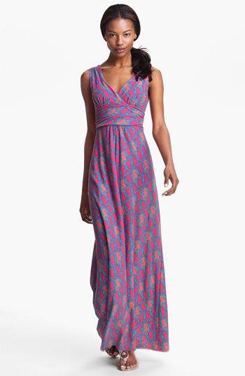 Lilly Pulitzer Sloane Seahorse Print Cotton Maxi Dress