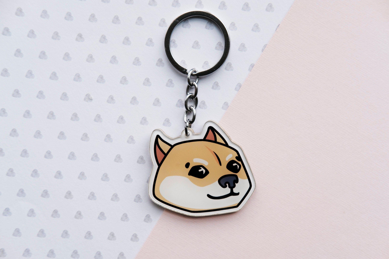Shiba Doge meme Cute Dog Acrylic Keychains Charm in 2020