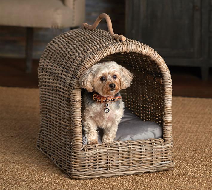 Canopy Pet Bed Pet beds, Pets, Wicker