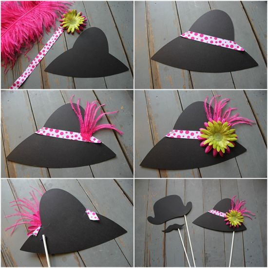 photo booth temples hats   Louisville: Make It: Kentucky Derby Photo Booth Props