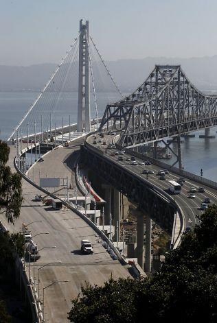New Bay Bridge next to the old Bay Bridge, San Francisco