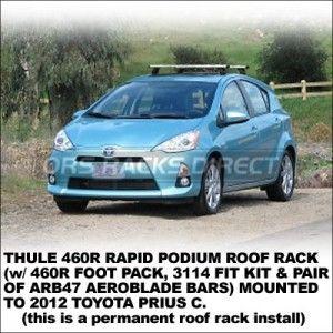 2012 Toyota Prius C Roof Rack 517 2 Toyota Prius Prius Toyota