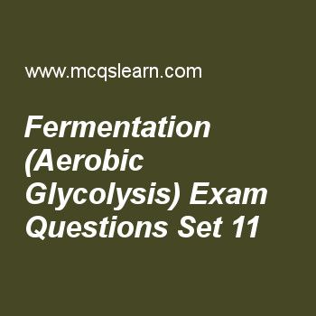 Practice test on fermentation (aerobic glycolysis), MCAT quiz 11 ...