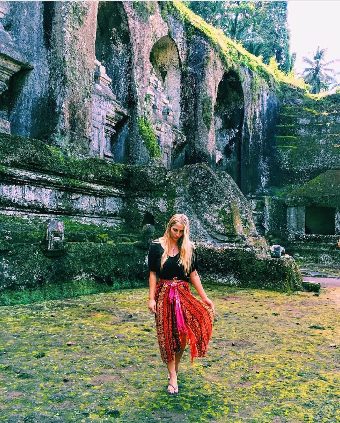 Wish we were there: Our little Brooke currently in Bali  @brooke_baldwinn wearing a crescent lariat  by Long Lost Jewelry