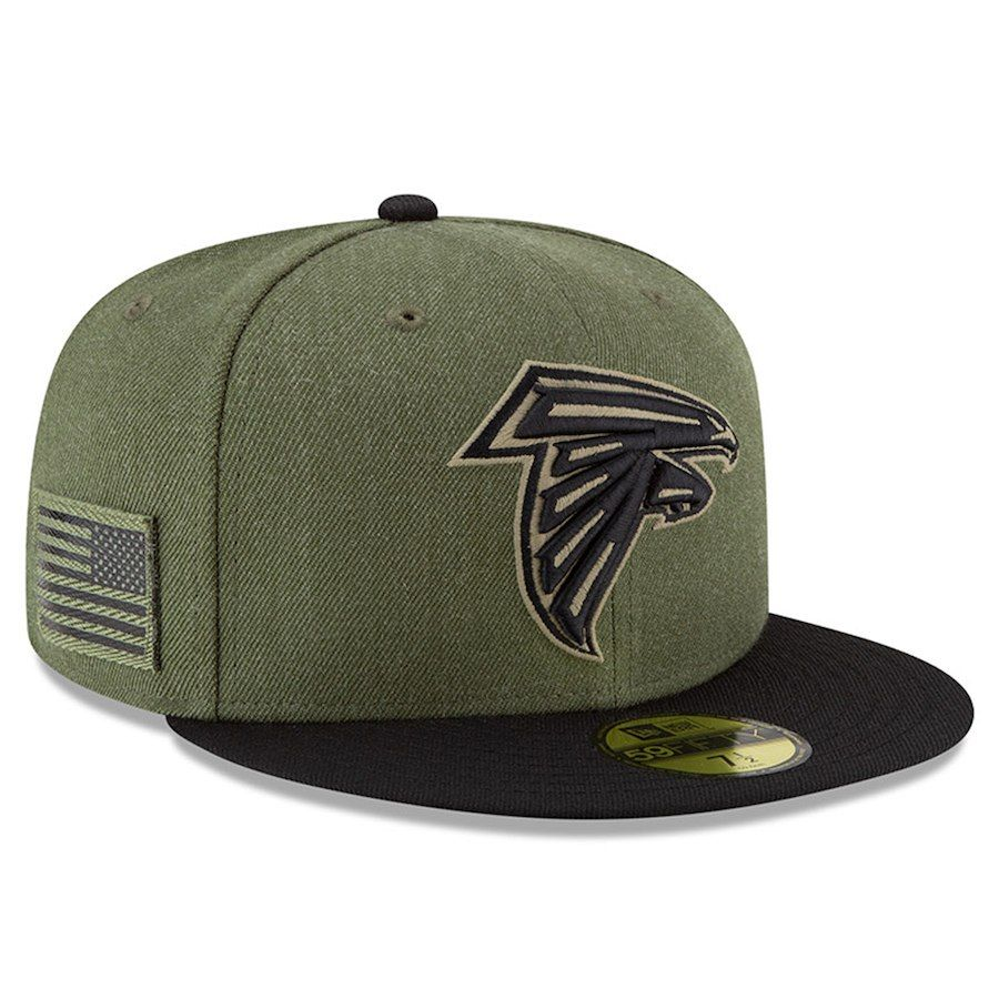 pretty nice 87181 86b59 Youth Atlanta Falcons New Era Olive Black 2018 Salute to Service Sideline  59FIFTY Fitted Hat, Your Price   35.99