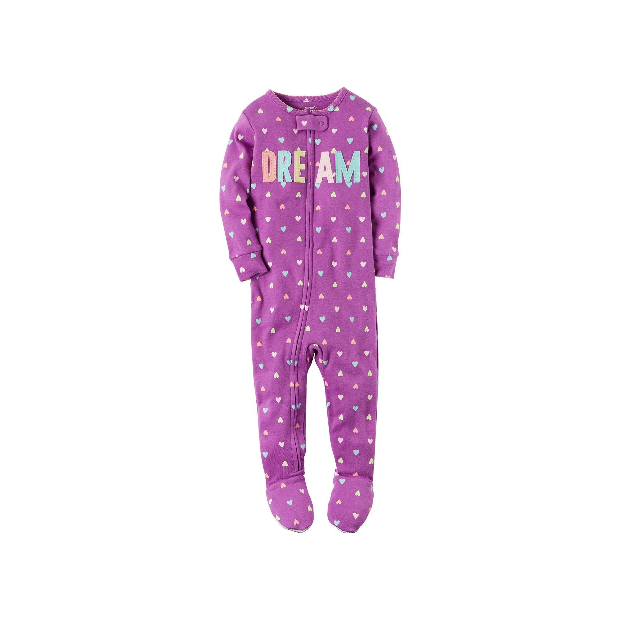 9810d7aec Baby Girl Carter s Print Applique Footed Pajamas