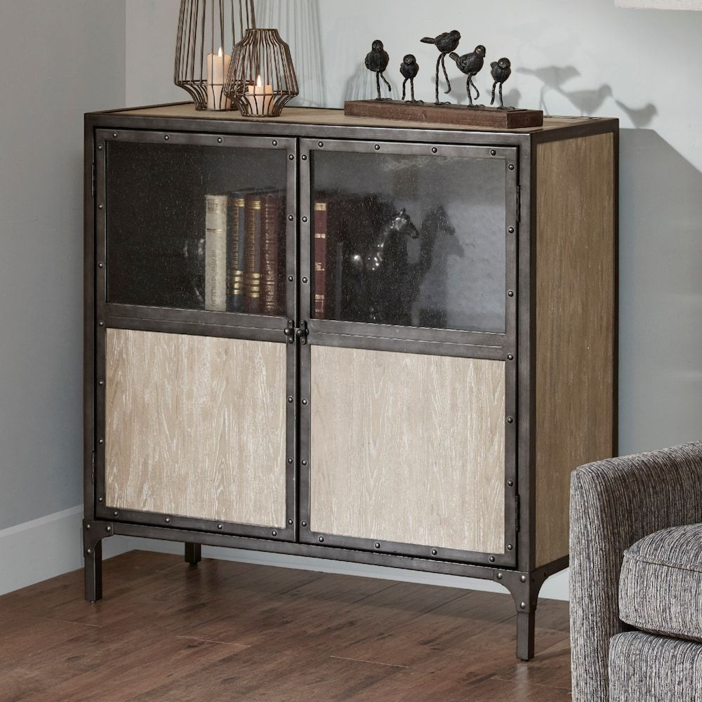 Madison Park Brewer Accent Cabinet Accent Cabinet Accent Cabinet Living Room Farmhouse Mantle Decor