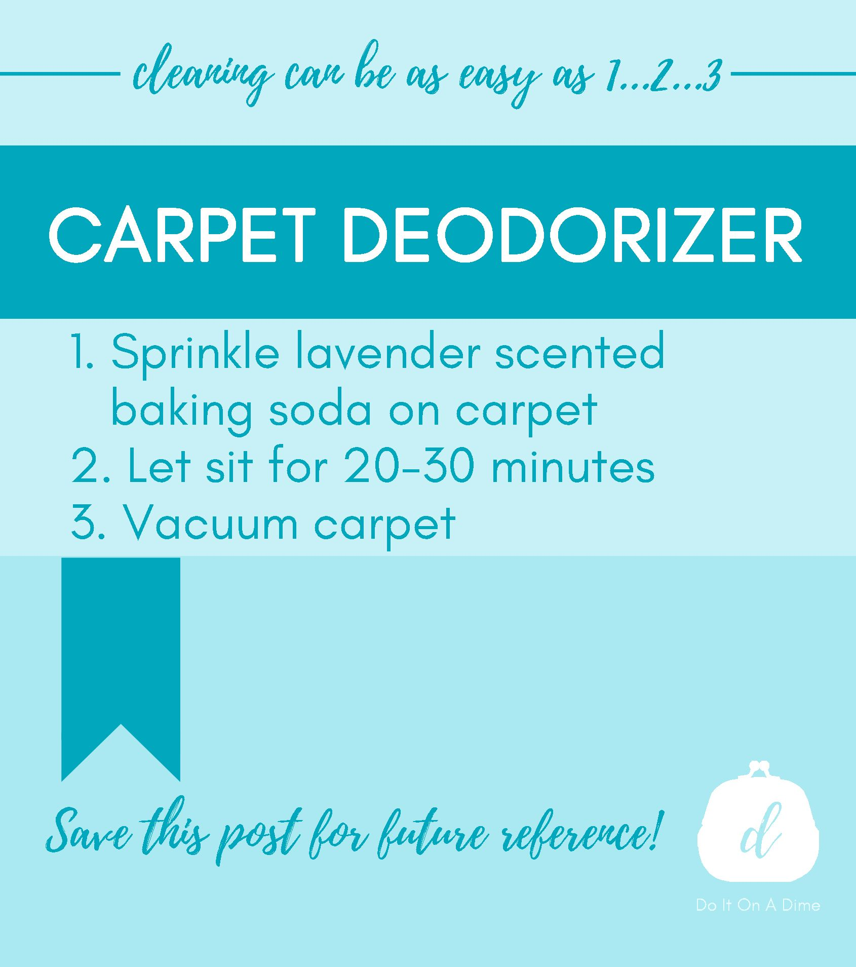 Freshen Up Your Carpet With This Easy Hack From Your Pantry Grab The Rest Of My Diy Cleaners In My Free Printable H Baking Soda On Carpet A Dime Simple Tricks