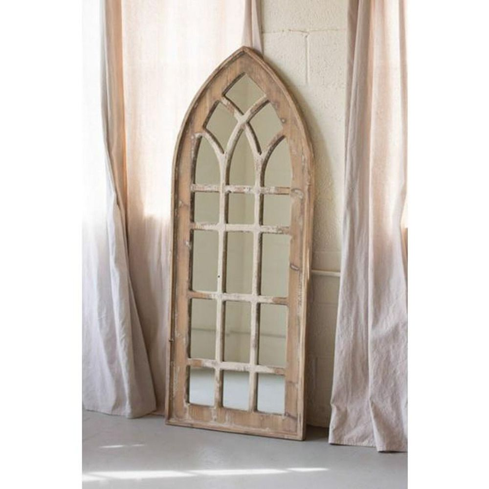 Tall Church Mirror Arched Gothic Window Pane Cathedral Rustic