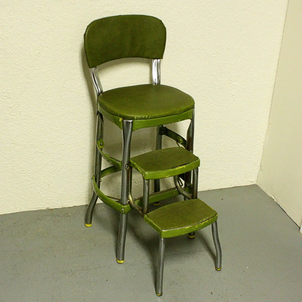 Vintage cosco stool step stool kitchen stool chair for Stool chair