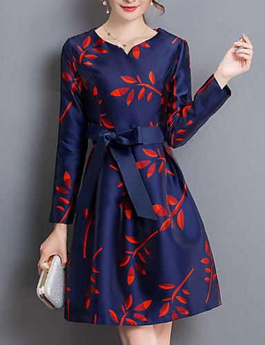 acb8cc136 22.99  Mujer Vaina Vestido Casual Diario Vintage