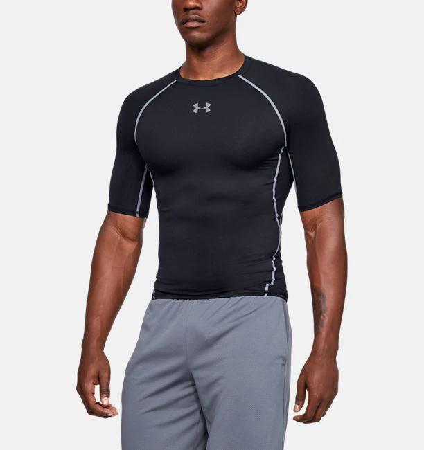 Men S Ua Heatgear Armour Short Sleeve Compression Shirt Compression T Shirt Compression Shirt Gym Outfit Men