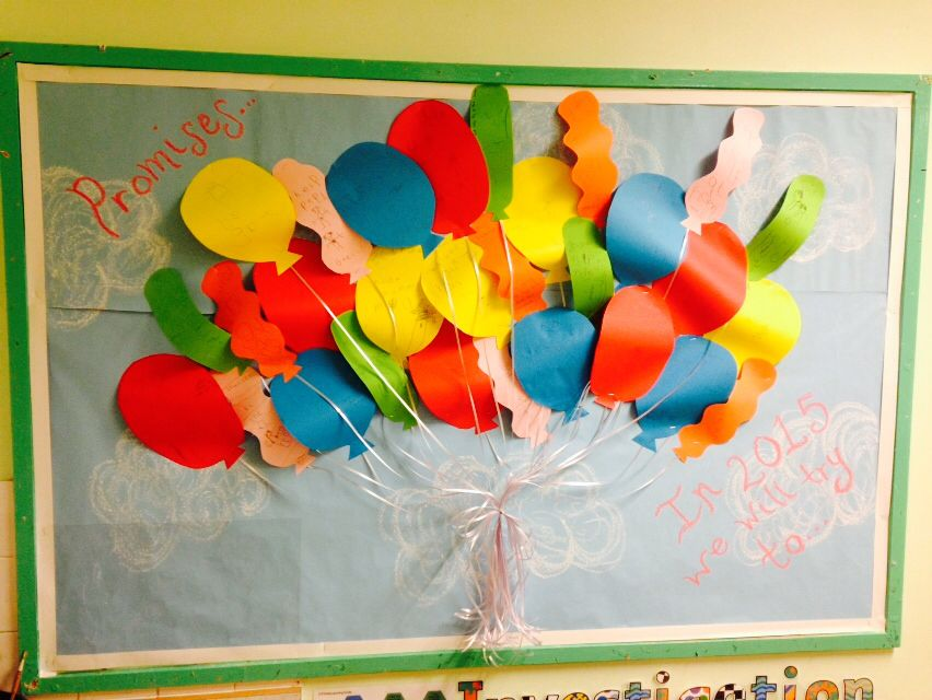 New Years Resolution Promise Display Board Eyfs
