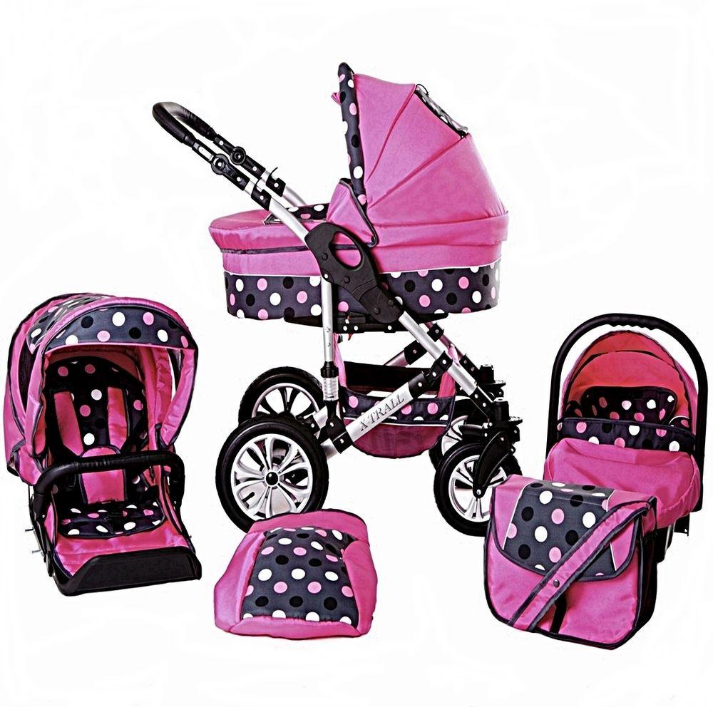 Baby Pram Pushchair Buggy Stroller Car Seat Travel System