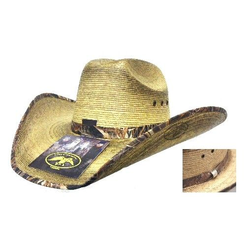 Tan Large Duck Dynasty Mallord Straw Cowboy Hat