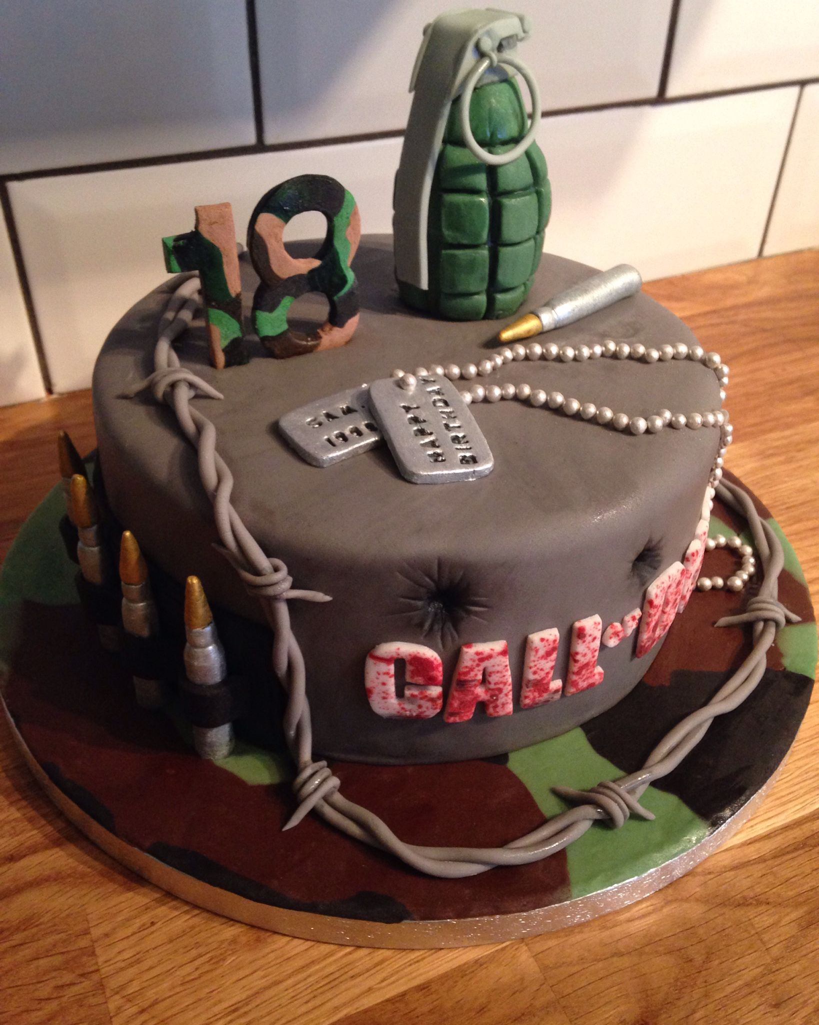 Call of duty cake Army birthday cakes, Call of duty cakes