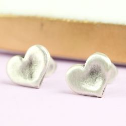 Danon Silver Heart Earrings