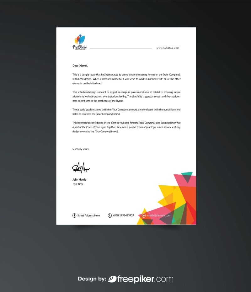 Business Letterhead Print Templates Pinterest Logo psd - business letterhead