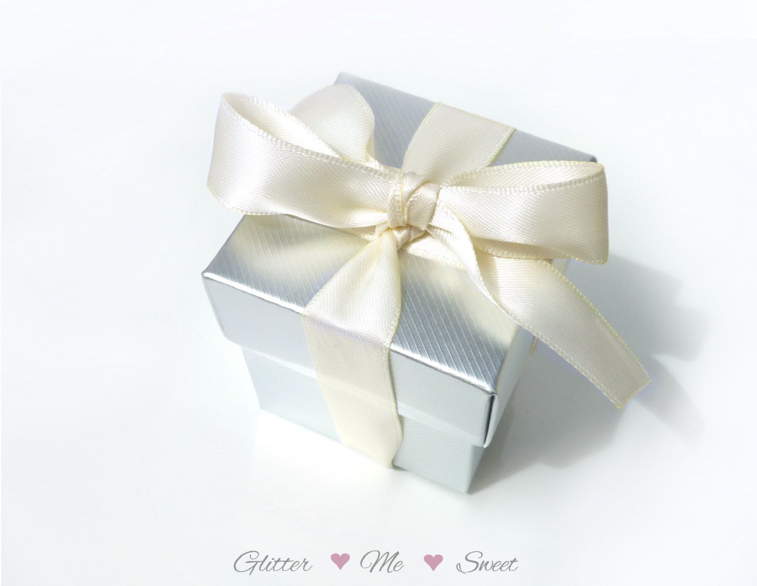 Silver Favor Box - Silver Party Decoration - Wedding Decor- Wedding ...