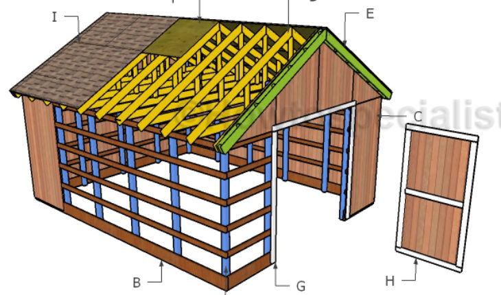 16x20 Pole Barn Roof Plans Howtospecialist How To Build Step By Step Diy Plans In 2020 Pole Barn Plans Barn Roof Barn Plans