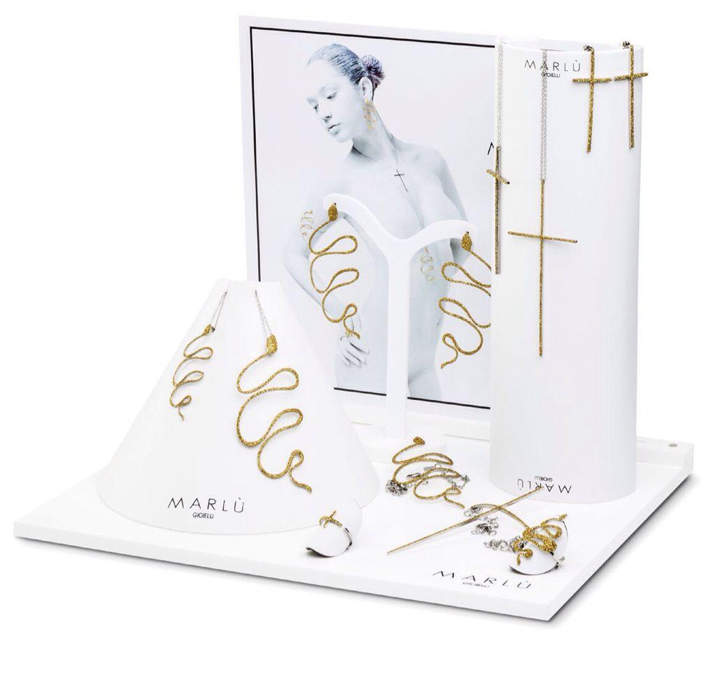 """""""Eden"""" Woman - Serpi e Croci glitter oro"""