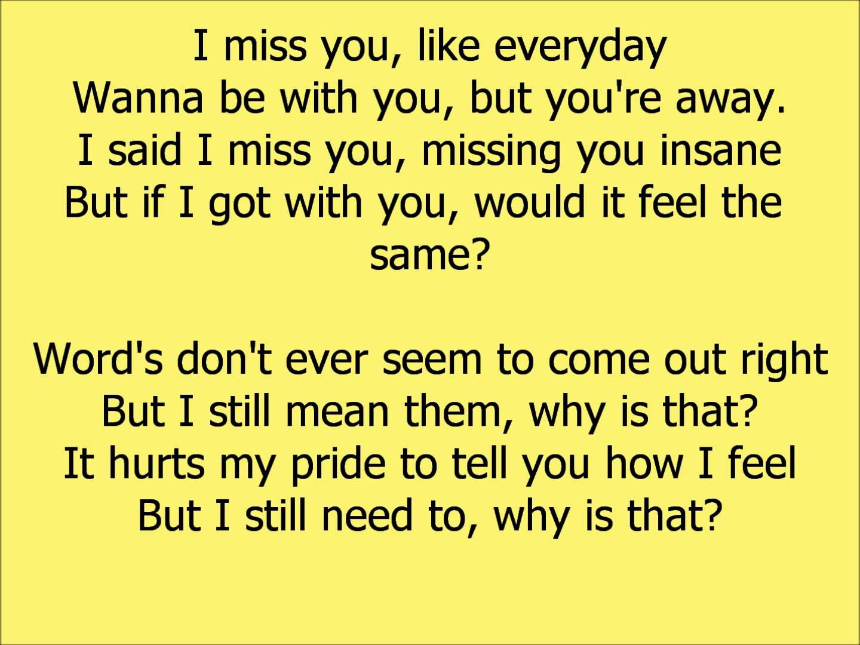 You Lyrics I You I Need Miss And