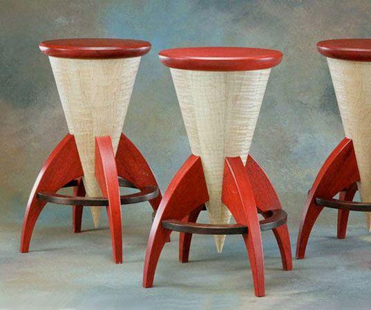 Funky Modern Rocket Stools made by Vermont furniture designer Steve ...