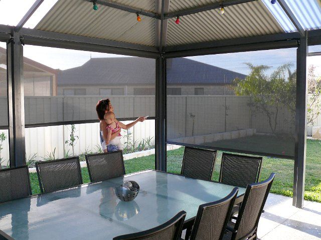 Motorised Blinds Custom Made To Suit Your Homes Needs Outdoor Shade Perth Australia Bozzy