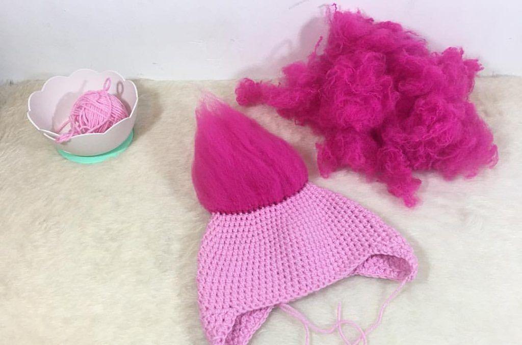 Crochet pattern- Poppy hat. Free crochet troll hat pattern. Poppy ...