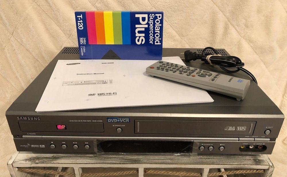 samsung dvd v2000 dvd player vhs player vcr remote manual tested rh pinterest com V2000 Sun Compaq Presario V2000 Drivers
