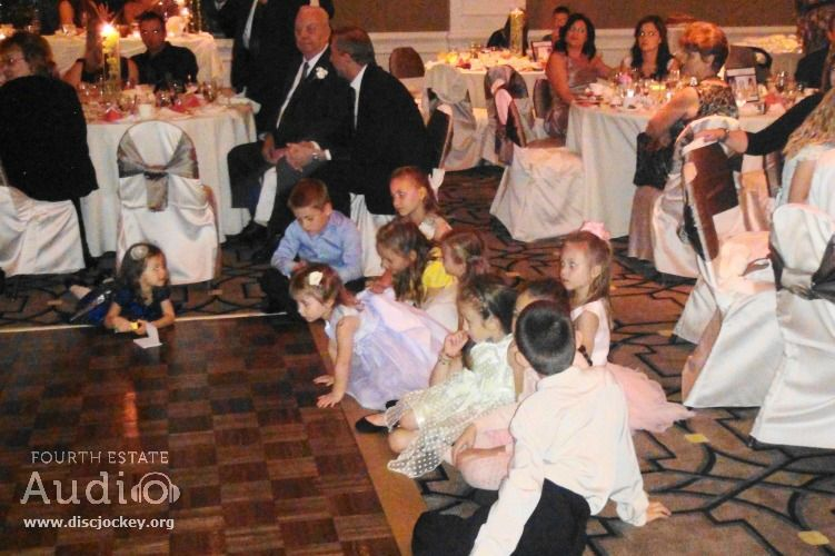 The Kids Enjoyed Bridal Partys Special Dances While Visions Of Their Own Future Weddings