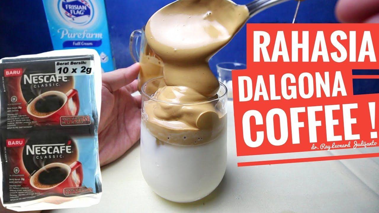 RAHASIA DALGONA COFFEE MENGEMBANG MAKSIMAL ! RESEP KOPI