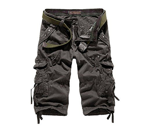 Hot Summer Mens Loose Mid Length Casual Cargo Army Combat Cargo Shorts Pants New
