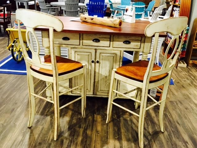 in stock amish made kitchen island with bar stools sarasota fl rh pinterest com