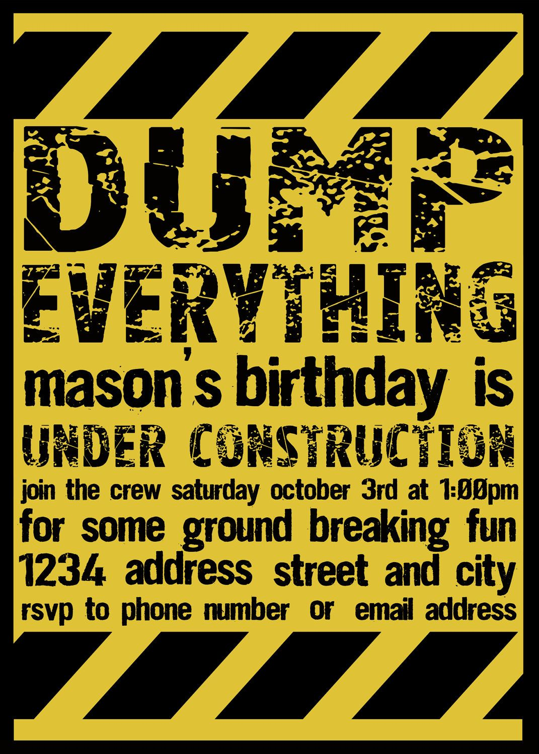 printable construction invitation by belvajune on etsy party time