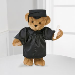 Mercy's Flowers 5500 W Flagler St Coral Gables, FL (305) 264-5053 #sayitwithflowers #bestwish #celebrate #special #floristmiami #florist Vermont Teddy Bear® 15-inch Graduation Bear - Black Gown