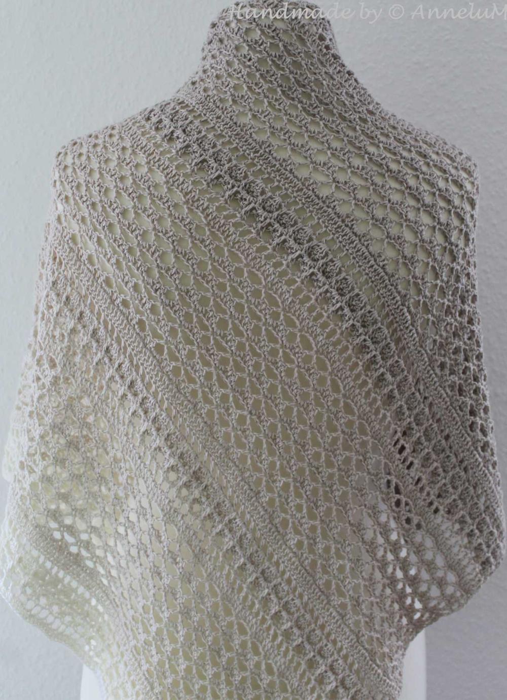 Asymmetric Cloth Duirro Annelum Dreieckstuch Hakeln Tuch Tuch Stricken