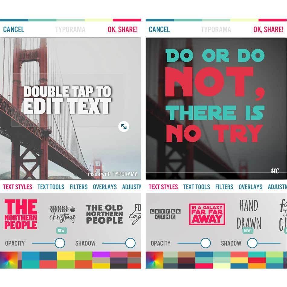Diseña y crea imágenes de texto con Typorama