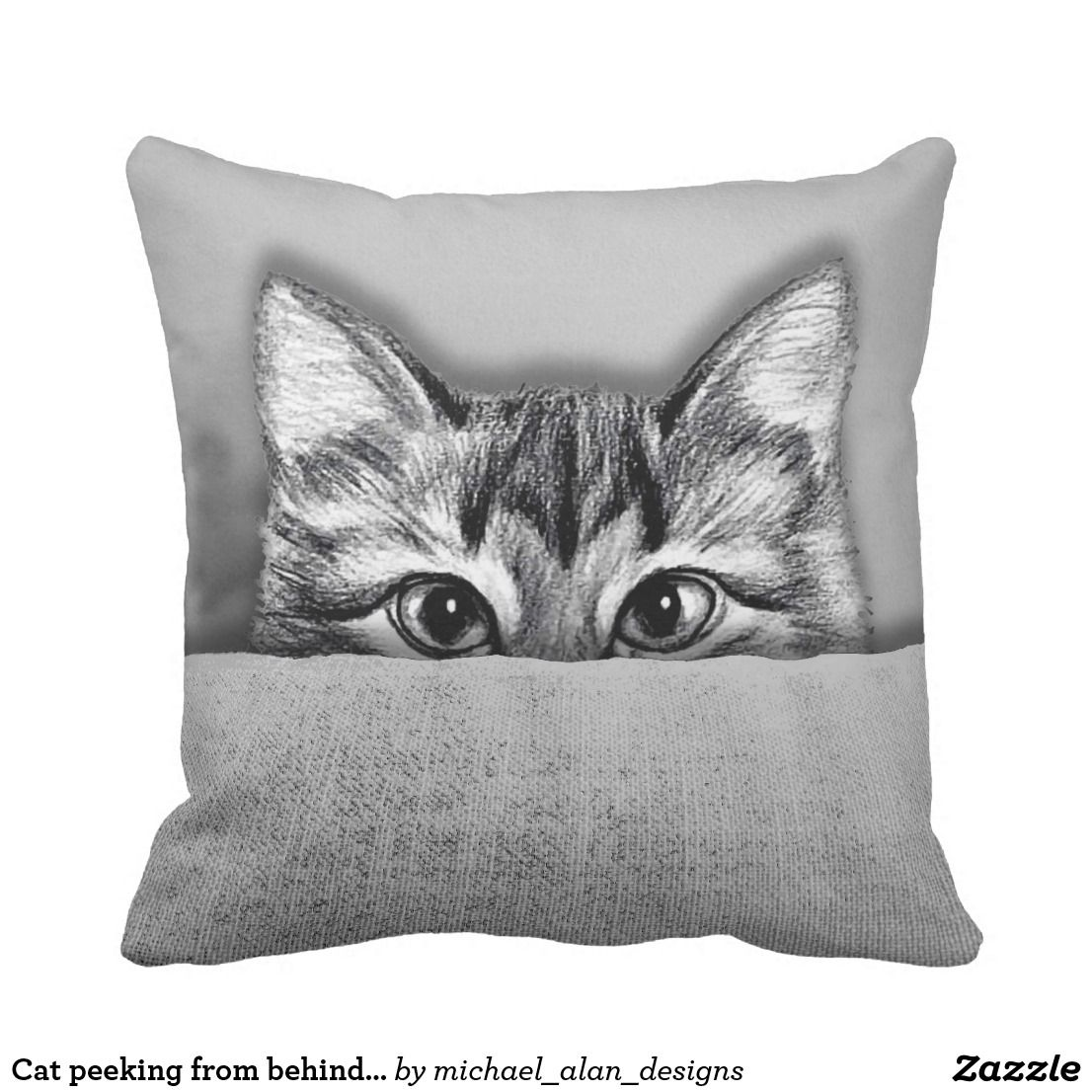Best Cat Peeking From Behind Sofa Throw Pillow Zazzle Com 640 x 480