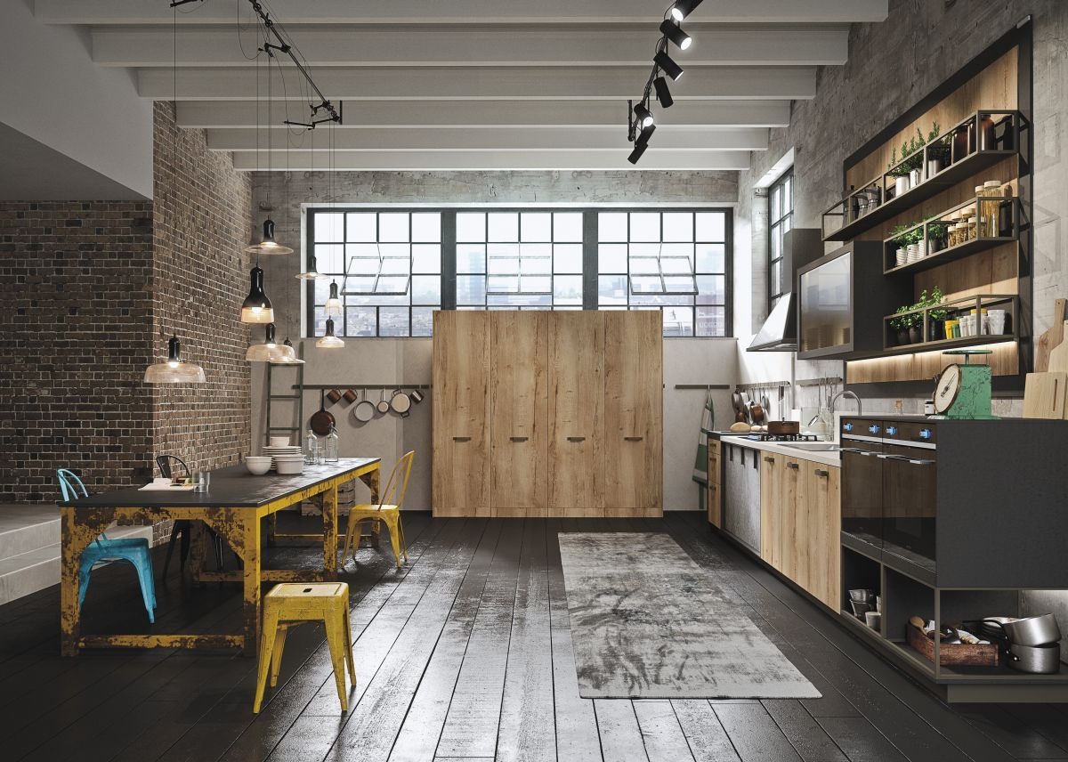 Industrial And Rustic Designs Resurfaced By The New Loft Kitchen Loft Kitchen Industrial Style Kitchen Kitchen Design