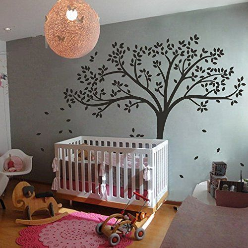 MairGwall Fall Tree Wall Decal Monochromatic Tree Decal Baby Nursery Wall  Decor 78H X 87W Black Tree | Children Wall Stickers | Pinterest | Black Tree,  ...