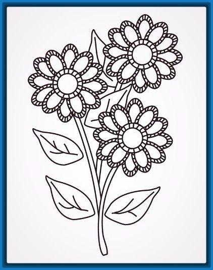 imagenes-para-colorear-flores-hermosas.jpg (422×535) | Enmanuelle ...