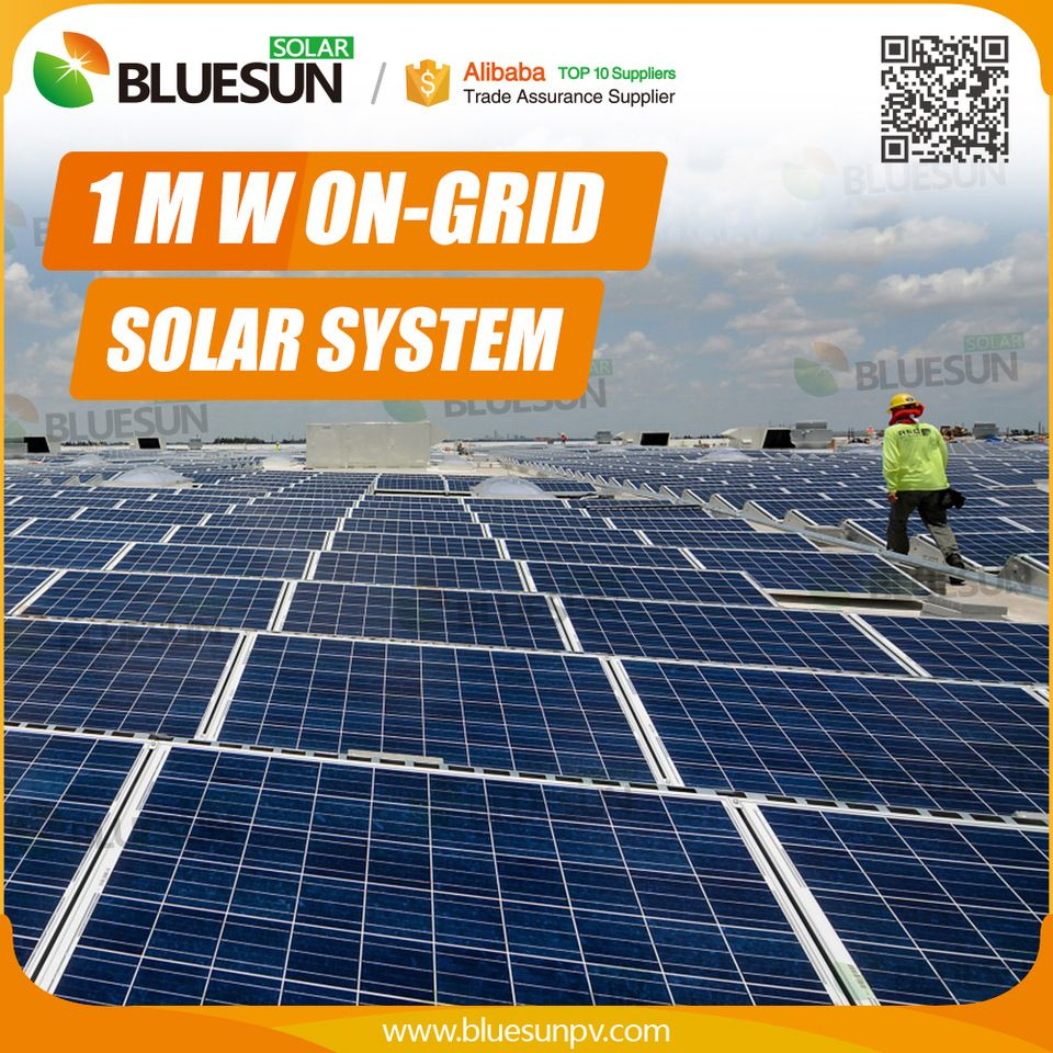Professional Design Micro Grid 1 Megawatt Solar System For Industrial Power Supplier Solar Solar System Solar Energy System
