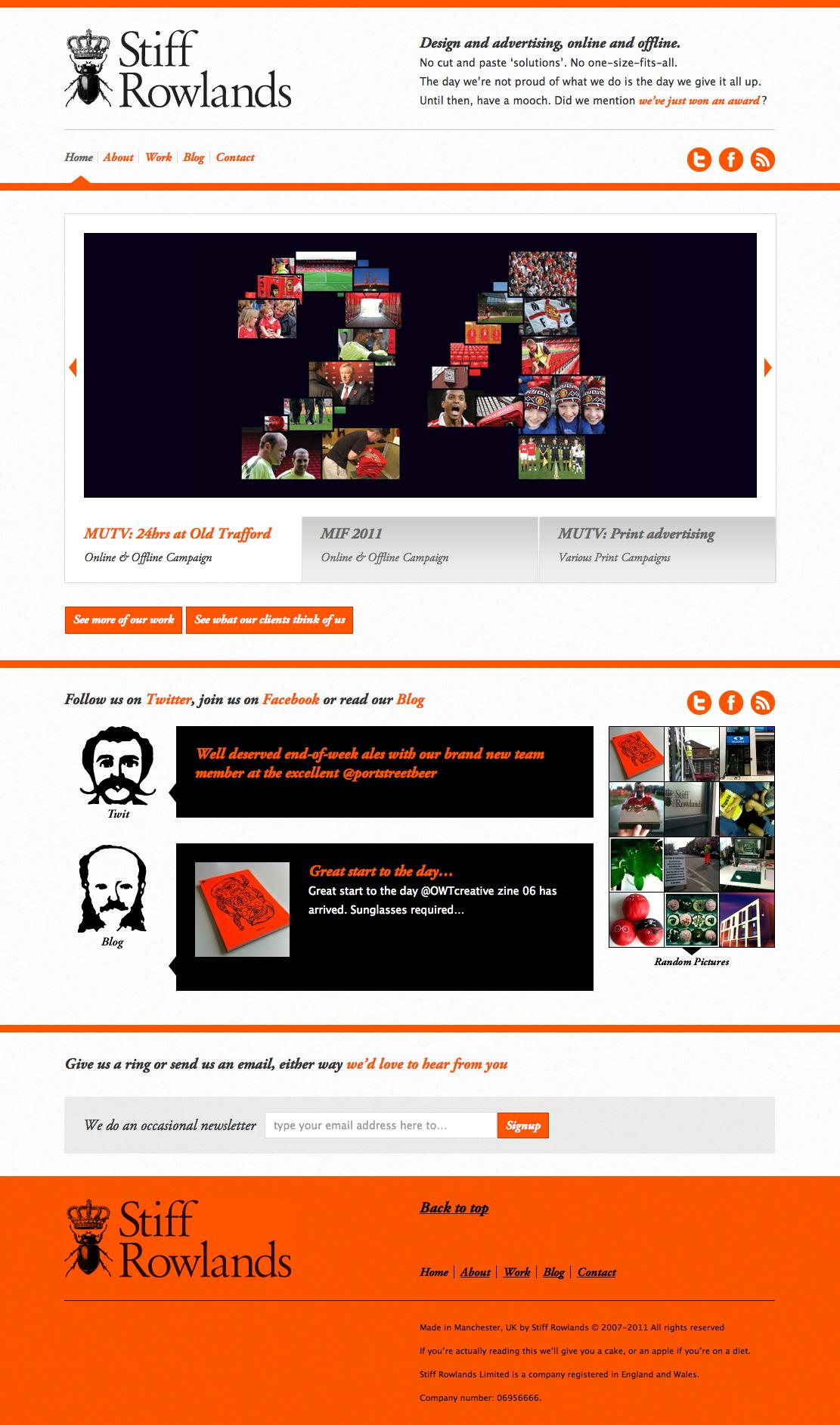I'm usually not a fan of orange, but it works here. #webdesign #web #design #color #orange