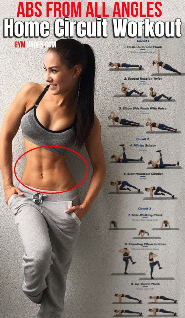 Attack Your Abs From All Angles With This At Home Circuit Workout